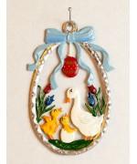 Wilhelm Schweizer Easter Oster Pewter Duck Family
