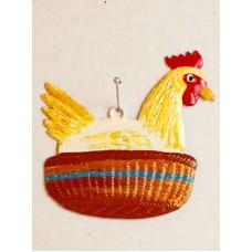Wilhelm Schweizer Easter Oster Pewter Hen Laying