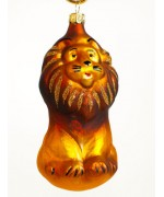 TEMPORARILY OUT OF STOCK <BR><BR> Mouth Blown Glass Ornament 'Lion'