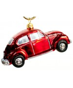 TEMPORARILY OUT OF STOCK <BR><BR> Mouth Blown Glass Ornament 'Red Car'