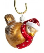 TEMPORARILY OUT OF STOCK - Mouth Blown Glass Ornament Christmas Bird