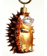 TEMPORARILY OUT OF STOCK <BR><BR> Mouth Blown Glass Ornament 'Porcupine'