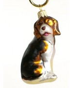 TEMPORARILY OUT OF STOCK <BR><BR> Mouth Blown Glass Ornament 'Hound'