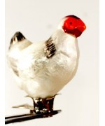 TEMPORARILY OUT OF STOCK - Mouth Blown Glass Ornament Hen
