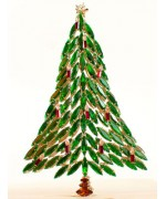 Swarovski Crystals Standing Christmas Tree