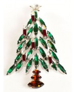 Swarovski Crystals Christmas Tree   BROOCH