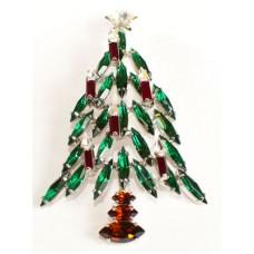 Swarovski Crystals Christmas Tree   BROOCH
