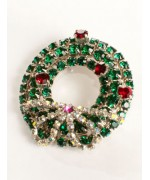 Swarovski Wreath Brooch