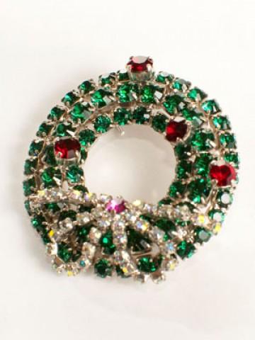 Swarovski Wreath Brooch