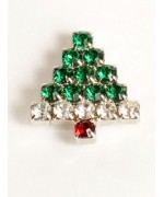 Miniature Christmas Tree Swarovski Pin