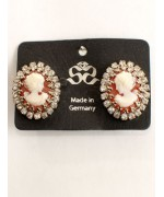 TEPORARILY OUT OF STOCK - Victorian Style  Portrait of a Lady  Clip-On Earrings