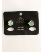 TEMPORARILY OUT OF STOCK <BR><BR>  Sea Green Swarovski Crystal Earrings