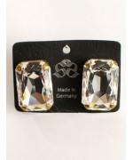 "Clear Swarovski Crystal ""Diamonds"" Earrings"