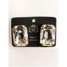 "Clear Swarovski Crystal ""Diamonds"" Earrings"