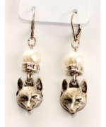 TEMPORARILY OUT OF STOCK - Beautiful German Fox Head Earrings