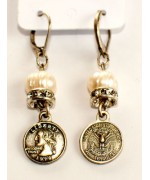 "Beautiful German ""Quarter Dollar"" Earrings"