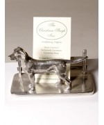 TEMPORARILY OUT OF STOCK - Pewter Business Card Holder Hound
