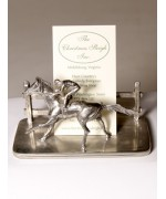 TEMPORARILY OUT OF STOCK <BR><BR>  Pewter Business Card Holder Horse Rider