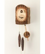TEMPORARILY OUT OF STOCK - Hubert Herr Cuckoo Clock Baumrinde Tree Bark