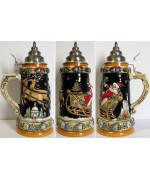 Santa Over Alpine Landscape 0.75 L Beer Stein