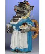 TEMPORARILY OUT OF STOCK - Oktoberfest Beer Stein Bavarian Female Boar Rosi 1 L