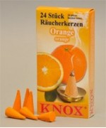 German 'ORANGE' Incense Cones Raeucherkerzen
