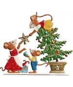 Mice Decorating the Tree' Wilhelm Schweizer