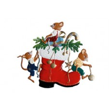 Mice playing on a Nicolausboot Hanging Ornament Wilhelm Schweizer