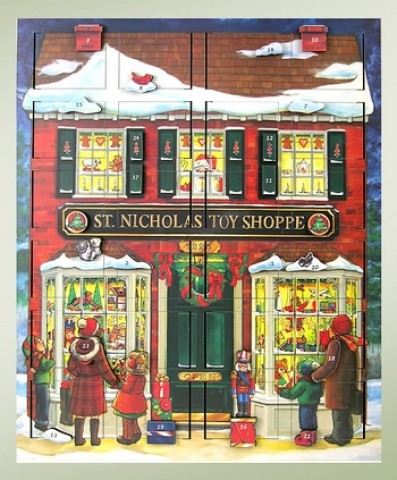 Byers Choice  Musical Advent Calendar  St. Nick's Toy Shoppe - TEMPORARILY OUT OF STOCK