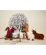 TEMPORARILY OUT OF STOCK - Mary and Joseph Set' Christmas Pewter Wilhelm Schweizer