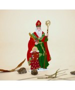 TEMPORARILY OUT OF STOCK <BR><BR> 'Holy Nikolaus with angel' BABETTE SCHWEIZER