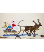 TEMPORARILY OUT OF STOCK - Santa's Sleigh BABETTE SCHWEIZER