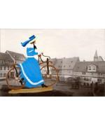 Trolley Woman' Standing Pewter BABETTE SCHWEIZER