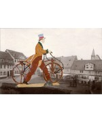 Man on Bicycle' Standing Pewter BABETTE SCHWEIZER