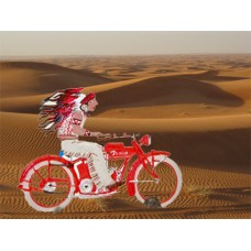 TEMPORARILY OUT OF STOCK - Indian Motorcycle 1916' Standing Pewter BABETTE SCHWEIZER