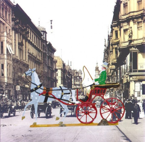 TEMPORARILY OUT OF STOCK - Carriage Standing Pewter BABETTE SCHWEIZER