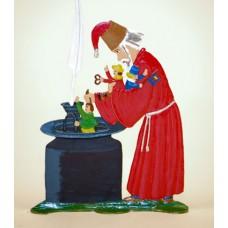TEMPORARILY OUT OF STOCK - Zinnfiguren-Pewter Ornament 'Struwwelpeter' 'Niklas mit Tintenbuben' BABETTE SCHWEIZER