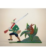 Zinnfiguren-Pewter Ornament  'Struwwelpeter'  'Wilder JÃ