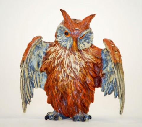 Vienna Bronze Big Owl