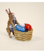 TEMPORARILY OUT OF STOCK- Easter Bunnies Vienna Bronze Rabbit with Egg Basket