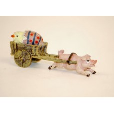 TEMPORARILY OUT OF STOCK - Easter Bunnies Vienna Bronze Pig Carriage
