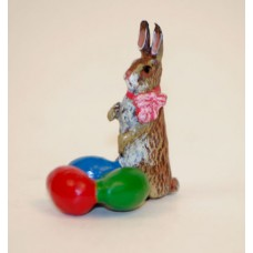 TEMPORARILY OUT OF STOCK - Easter Bunnies Vienna Bronze Rabbit with Eggs Miniature