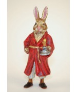 Easter Bunnies Vienna Bronze Rabbit in Nightdress with Candlestick
