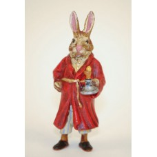 Easter Bunnies Vienna Bronze Rabbit in Nightdress with Candlestick