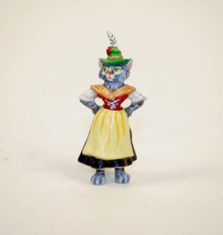 Vienna Bronze Cat Lady Miniature Figure