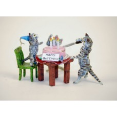 TEMPORARILY OUT OF STOCK - Vienna Bronze Cats Birthday Party