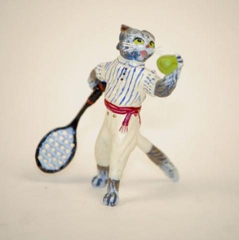 Vienna Bronze Tennis Cat
