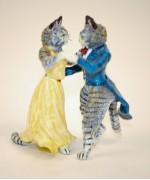 Vienna Bronze Two Cats Dancing