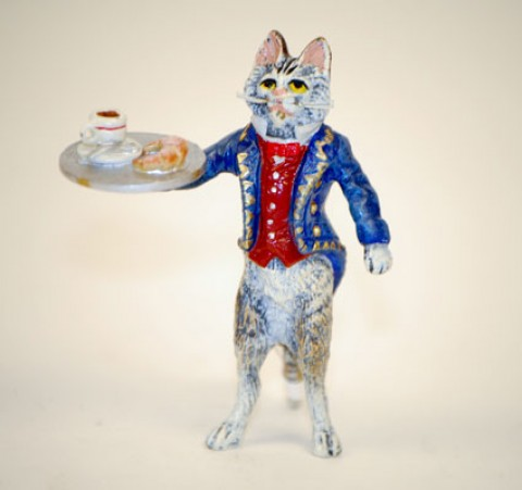 TEMPORARILY OUT OF STOCK - Vienna Bronze Waiter Cat