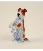 Vienna Bronze 'Airedale Terrier, sitting'